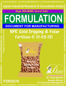 NPK solid Dripping & Foliage Fertilizer II(11-3-13)FOR 2676