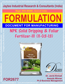 NPK solid Dripping & Foliage Fertilizer III(11-3-13)FOR 2677
