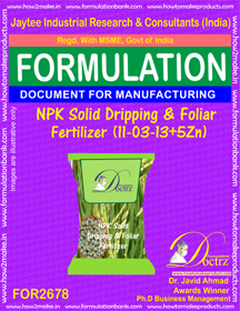 NPK solid Dripping & Foliage FertilizeR(11-3-13+5Zn)FOR 2678