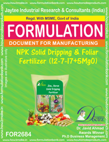 NPK solid Dripping & Foliage Fertilizer(12-7-17+5MgO) FOR2684