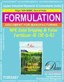 NPK solid Dripping & Foliage Fertilizer III(18-6-5) FOR2687