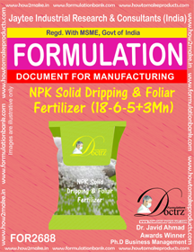 NPK Solid Dripping & Foliar Fertilizer (18 – 6 – 5 + 3) FOR2688