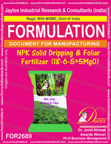 NPK Solid Dripping & Foliar Fertilizer (18 – 6 – 5 + 5 ) FOR2689
