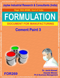 Cement paint type 3 making