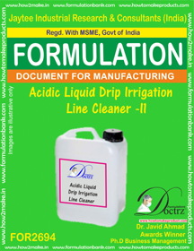 Acidic Liquid Drip Irrigation Line Cleaner – II (FOR2694)
