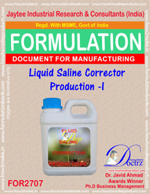LIQUID SALINE CORRECTOR PRODUCTION -I (FOR2707)