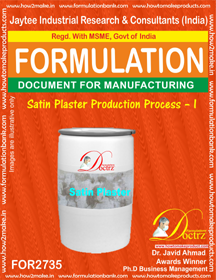Satin Plaster Production Process – I for2735)
