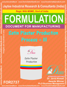 Satin Plaster Production Process – III for2737)