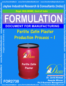 Perlite Satin Plaster Production Process – I (for2738)