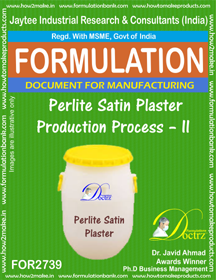 Perlite Satin Plaster Production Process – II (for2739)