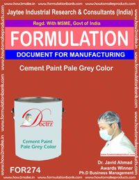 Cement paint pale grey colour