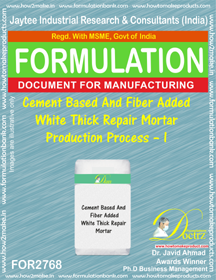 Cement Based & Fiber Added White Thick Repair Mortar Production