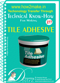 Tile Adhesive Technical Know-how Report (TNHR277)
