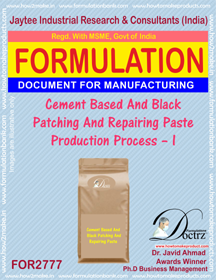 Cement Based And Black Patching And Repairing Paste Production
