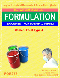 Cement paint type 4 (formula no 278)