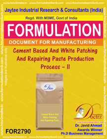 Cement Based And White Patching And Repairing Paste Production