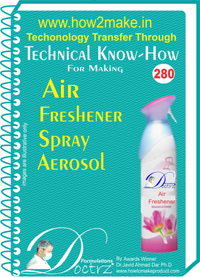 Air Freshener Spray Aerosol Technical know-how (TNHR280)