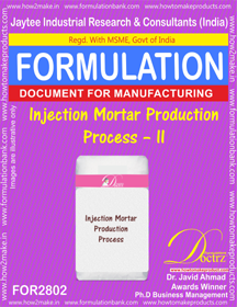 Injection Mortar Production Process – II