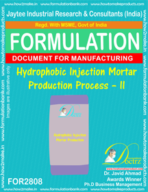 Hydrophobic Injection Mortar Production Process – II
