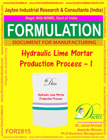 Hydraulic Lime Mortar Production Process – I