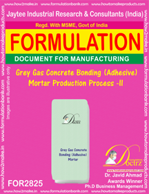 Grey Gas Concrete Bonding (Adhesive ) Mortar Production Process