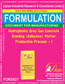 Hydrophobic Grey Gas Conc. Bonding (Adhesive) Mortar Production