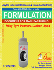 Milky Tyre Puncture Sealant Liquid (for2830)