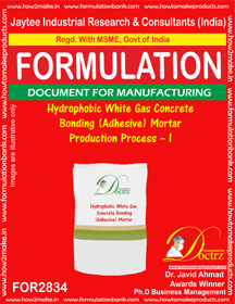 Hydrophobic White Gas Concrete Bonding (Adhesive) Mortar Product