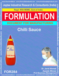 Recipe of chilli sauce (formula 284)