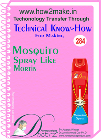 Mosquito Spray like Mortin Technical know-how (TNHR284)