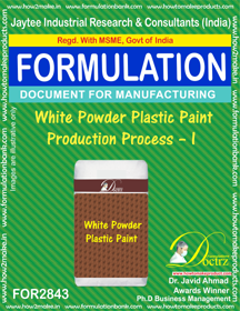 White Powder Plastic Paint Production Process – I