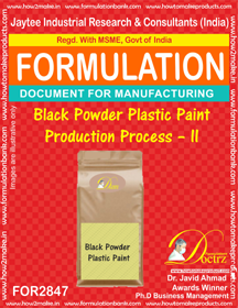 Black Powder Plastic Paint Production Process – II