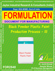 Black Powder Plastic Paint Production Process – III