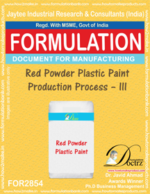 Red Powder Plastic Paint Production Process – III