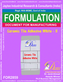 Ceramic Tile Adhesive White - II