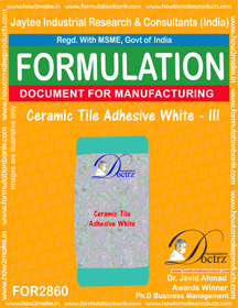 Ceramic Tile Adhesive White - III