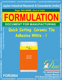 Quick Setting Ceramic Tile Adhesive White - I