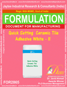 Quick Setting Ceramic Tile Adhesive White - II