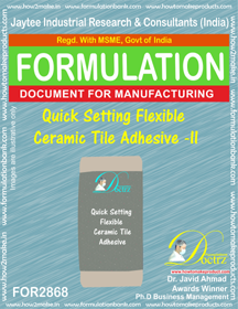 Quick Setting Flexible Ceramic Tile Adhesive -II (for2868)