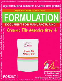Creamic Tile Adhesive Grey -II (for2871)