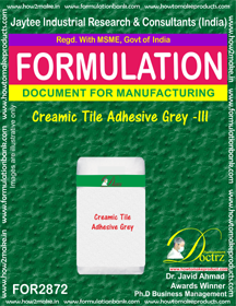 Creamic Tile Adhesive Grey -III (for2872)