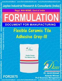 Flexible Ceramic Tile Adhesive Grey-III (for2875)
