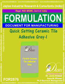 Quick Setting Ceramic Tile Adhesive Grey-I (for2876)