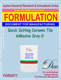 Quick Setting Ceramic Tile Adhesive Grey-II (for2877)