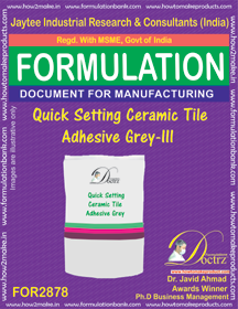 Quick Setting Ceramic Tile Adhesive Grey-II (for2878)