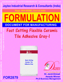 Fast Setting Flexible Ceramic Tile Adhesive Grey-I (for2879)
