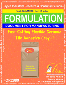 Fast Setting Flexible Ceramic Tile Adhesive Grey-II (for2880)