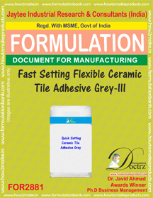 Fast Setting Flexible Ceramic Tile Adhesive Grey-III (for2881)
