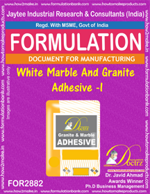 White Marble And Granite Adhesive -I (for2882)