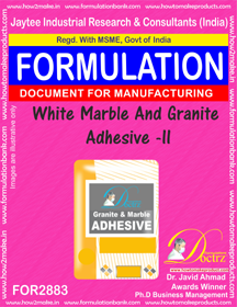 White Marble And Granite Adhesive -II (for2883)